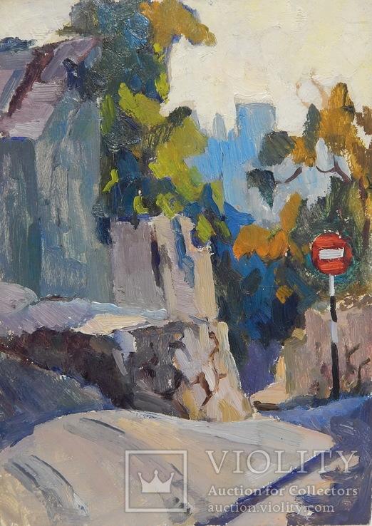 Крымский горный пейзаж. Картина маслом (3)