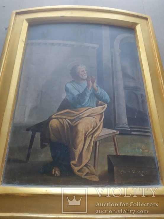 """""""Петръ плачущий у ворот"""".. 19 век., фото №8"""