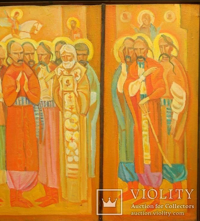 Картина художник М. Чорний, благословение, холст, масло, размеры картины 73 х 117 см, фото №3
