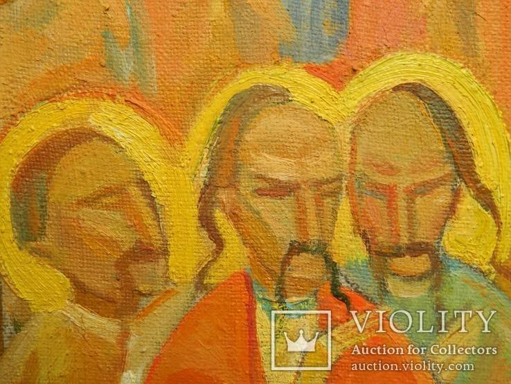 Картина художник М. Чорний, благословение, холст, масло, размеры картины 73 х 117 см, фото №8