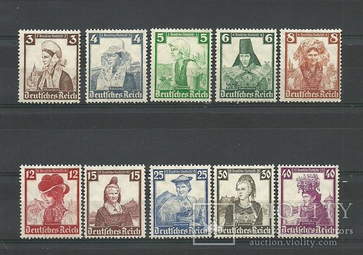 Третий Рейх. 1935. Германия. Костюмы, Женщины, Регионы. Полная серия. Родной клей.