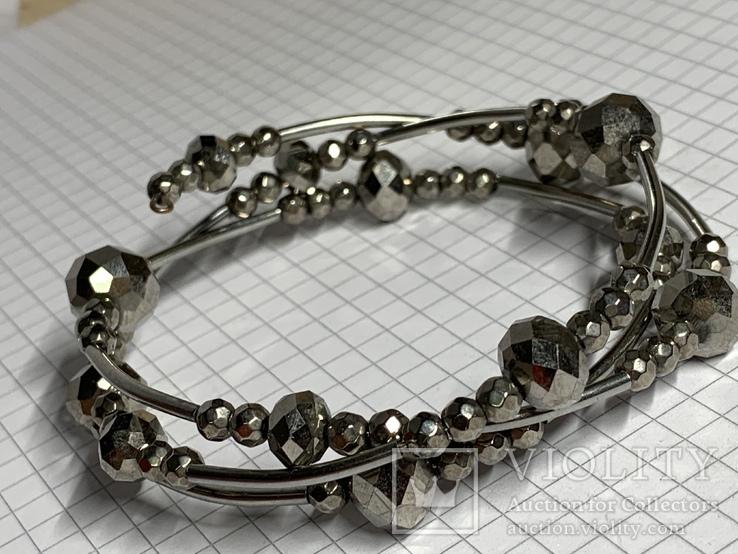 Винтажный серебристый браслет с Англии, фото №3