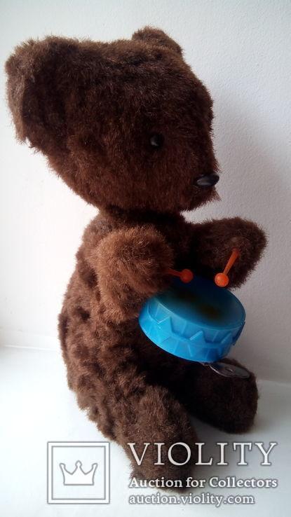 Заводной мишка барабанщик игрушка СССР, фото №8