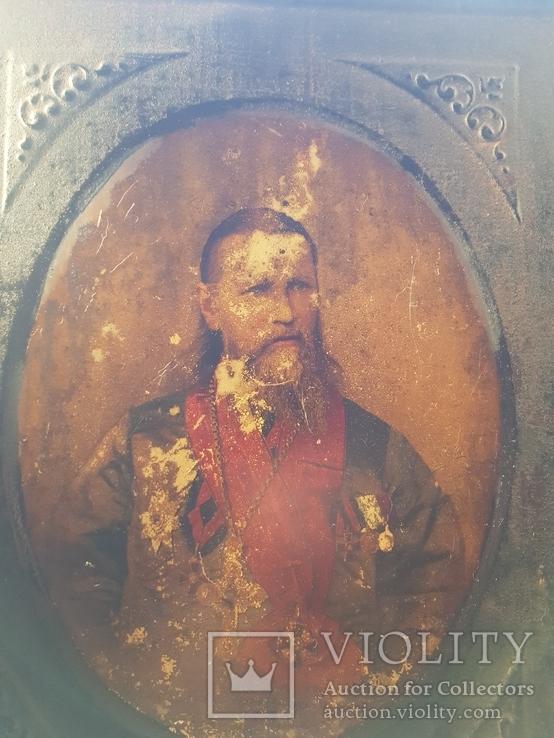 Железная икона Святой праведный Иоанн Кронштадтский.