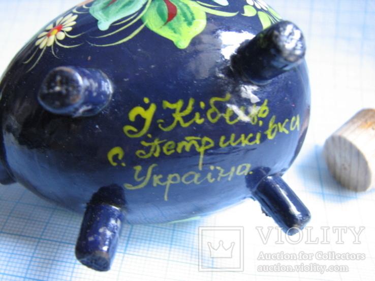 Солонка   Петрикивская   роспись (авторская), фото №7