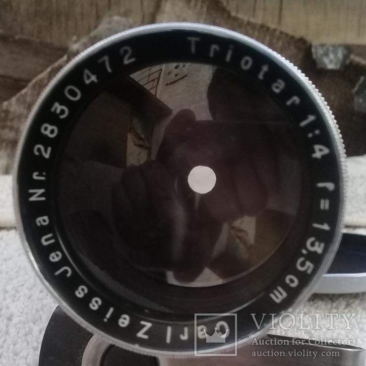 Обьектив Carl Zeiss Jena Triotar 1:4 f = 13.5 cm, фото №3