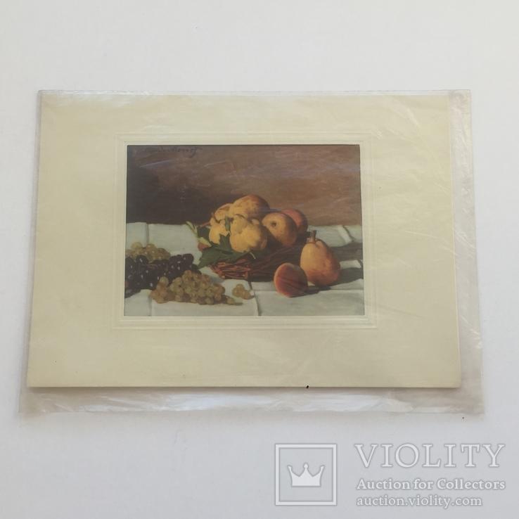 Старинная открытка Италии. Шелкография., фото №7