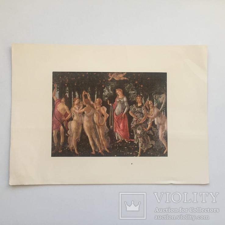 Декоративная открытка старой Италии. Шелкография., фото №2