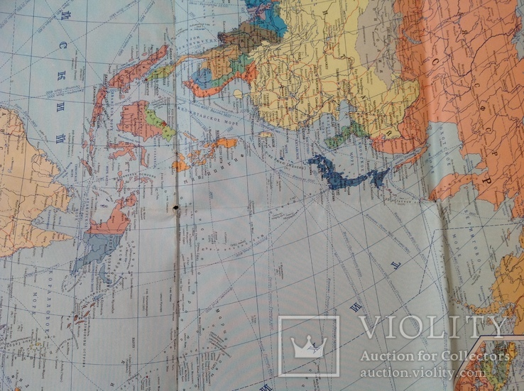 Политическая карта мира 1987г, фото №5