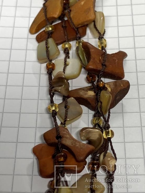 Винтажное колье из камня, фото №8