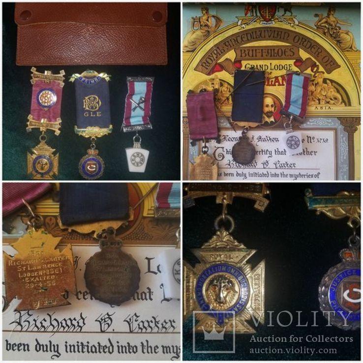 Масонский орден знак медаль сертификат серебро