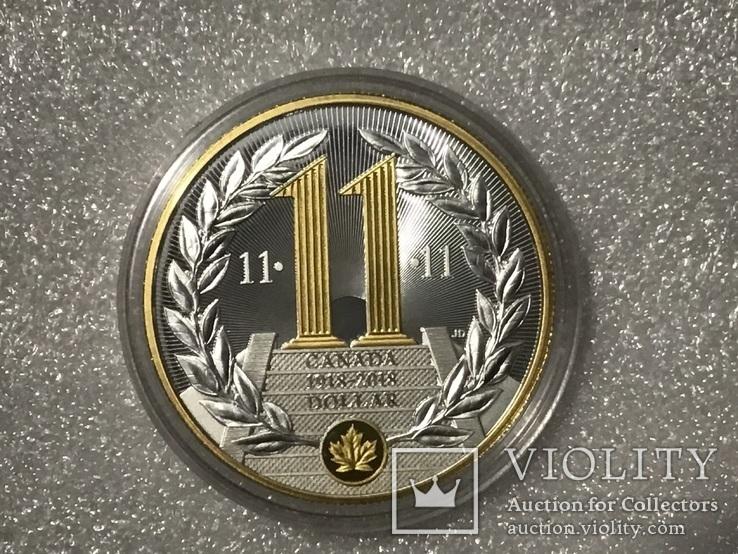 Доллар Канада 2018 года. Серебро, фото №3