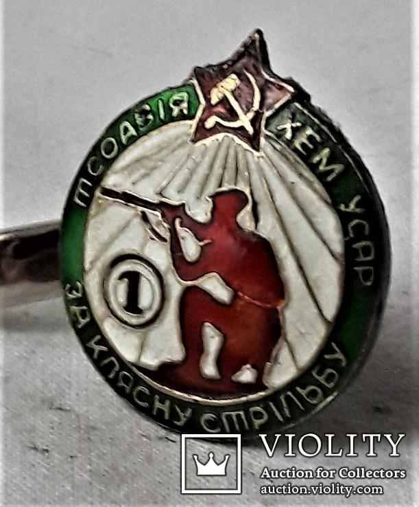 Знак За клясну стрільбу, ТСОАВІЯХЕМ УССР, копия, №0341, 1930егг, фото №3