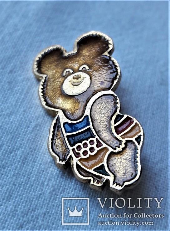 Знак Медведь мишка Олимпиада 1980 г, Москва, фото №9