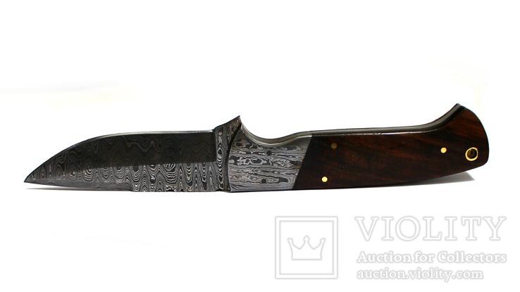 Нож охотничьий. Дамасская сталь. 43, фото №5