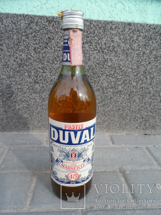 Ликер DUVAL 1 L gr 45 PASTIS MARSEILLE Франция, фото №4