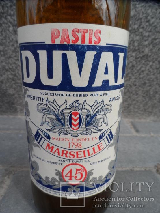 Ликер DUVAL 1 L gr 45 PASTIS MARSEILLE Франция, фото №5