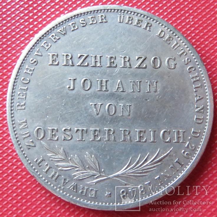 2 гульдена 1848 года  Свободного города Франкфурта, фото №2
