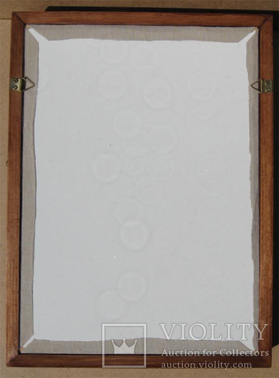 Глубокая рамка-витрина для серьёзной коллекции. 39х29см., фото №7
