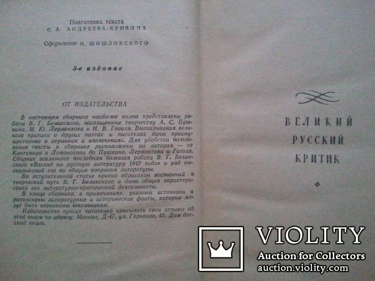 Белинский о классиках русской литературы. 1958 г., фото №4