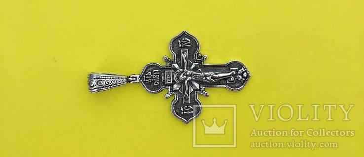 Хрест Срібло 925 проба. 8,45 грама., фото №3