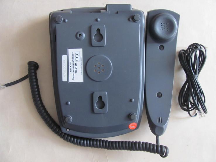 Сетевой телефон TEXET TX-210М, Россия, серо-голубой, фото №4