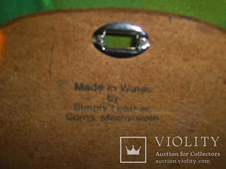 Сумочка из толстой кожи наплечная Англия- Уэльс, фото №7