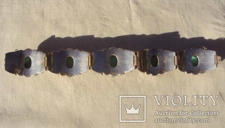 Браслет серебро, скань, зернь., фото №10
