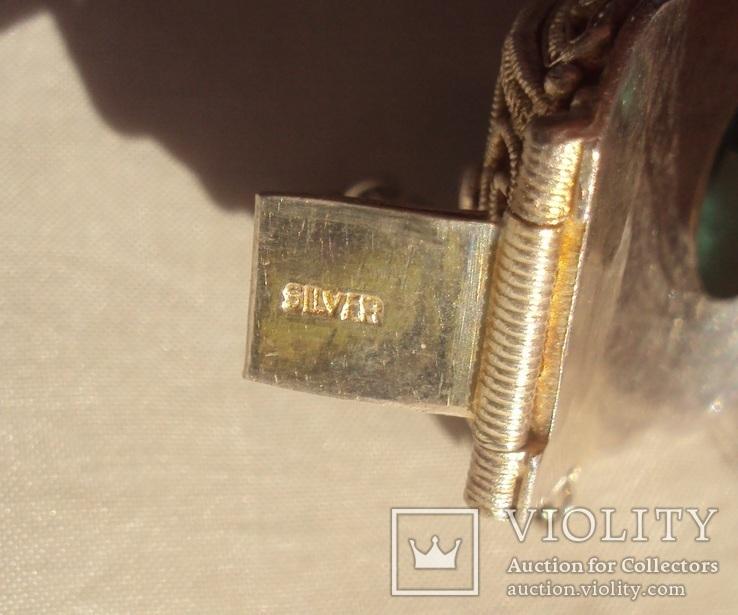 Браслет серебро, скань, зернь., фото №11