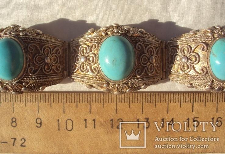 Браслет серебро, скань, зернь., фото №13
