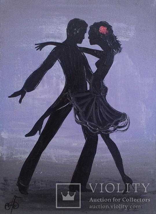 Картина, Танго, 15х20 см. Живопись на холсте, фото №2