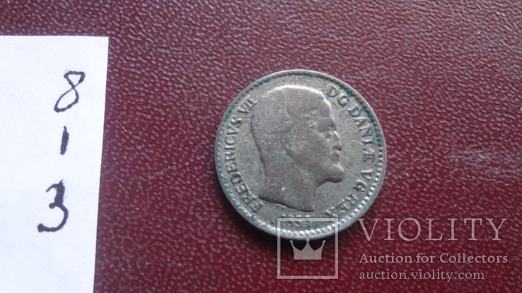 4  скиллинга 1854  Дания  серебро   (8.1.3)~, фото №4