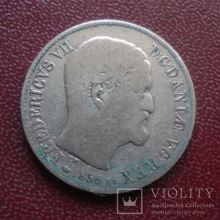 16  скиллингов 1856  Дания  серебро    (8.1.13)~, фото №3