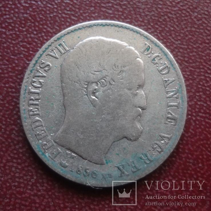 16  скиллингов 1856  Дания  серебро    (8.1.13)~, фото №4