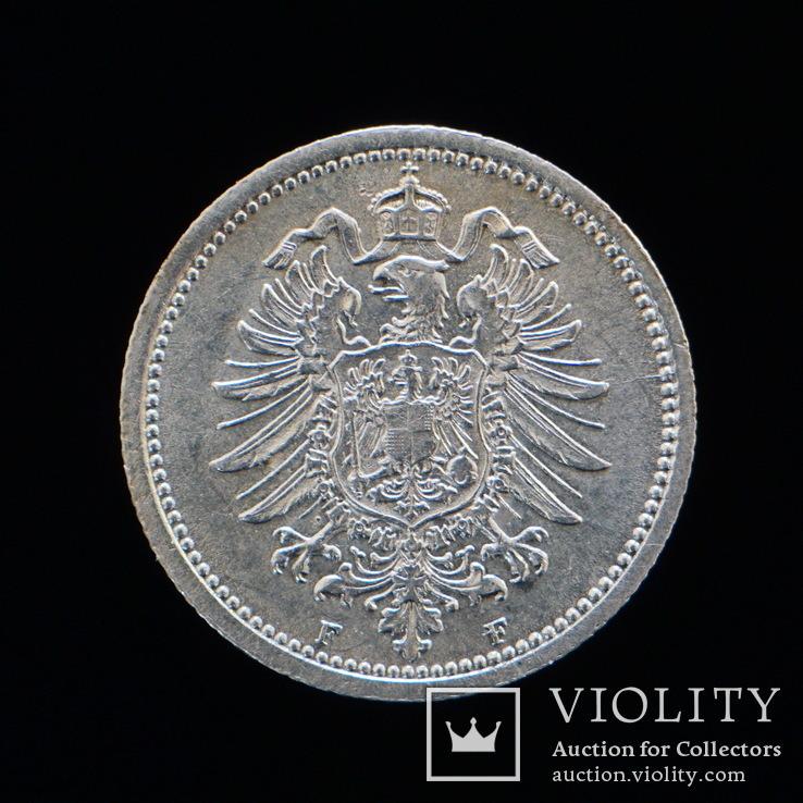 20 Пфеннгов 1876 F, Германия аUNC, фото №2