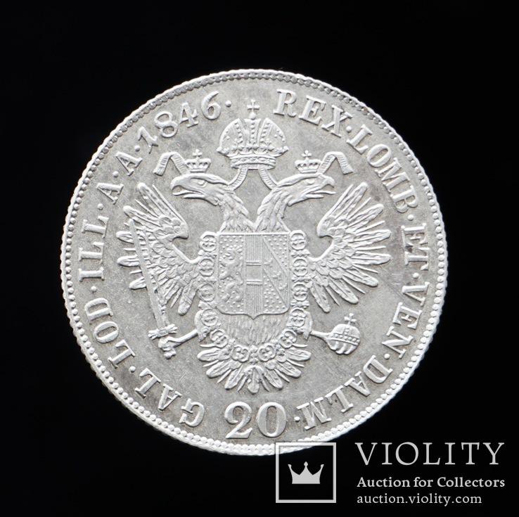 20 Крейцеров 1846 С, Австро-Венгрия, фото №2