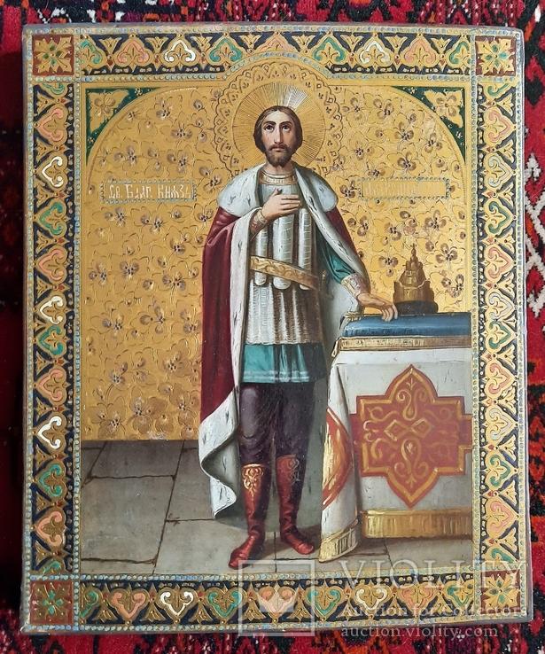 Икона Святой Князь Александр Невский., фото №2