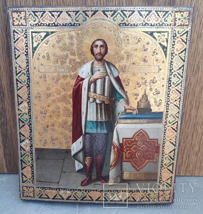 Икона Святой Князь Александр Невский., фото №3