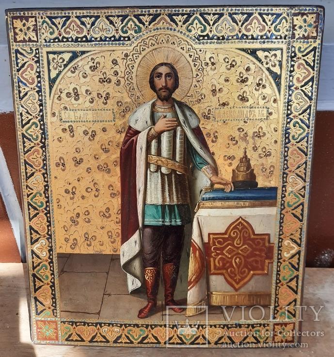 Икона Святой Князь Александр Невский., фото №4