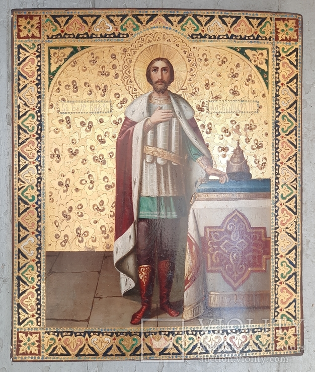 Икона Святой Князь Александр Невский., фото №5