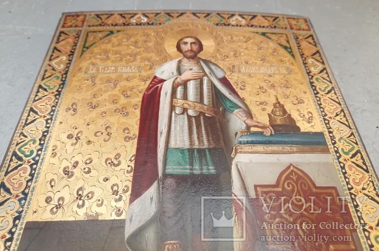 Икона Святой Князь Александр Невский., фото №6