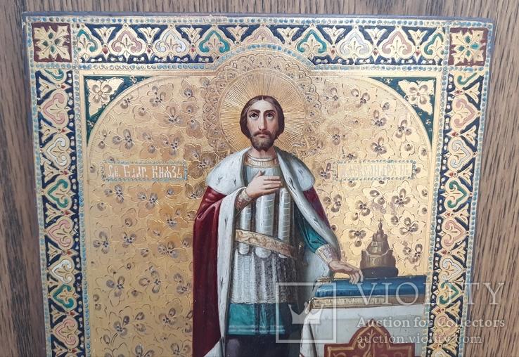 Икона Святой Князь Александр Невский., фото №7