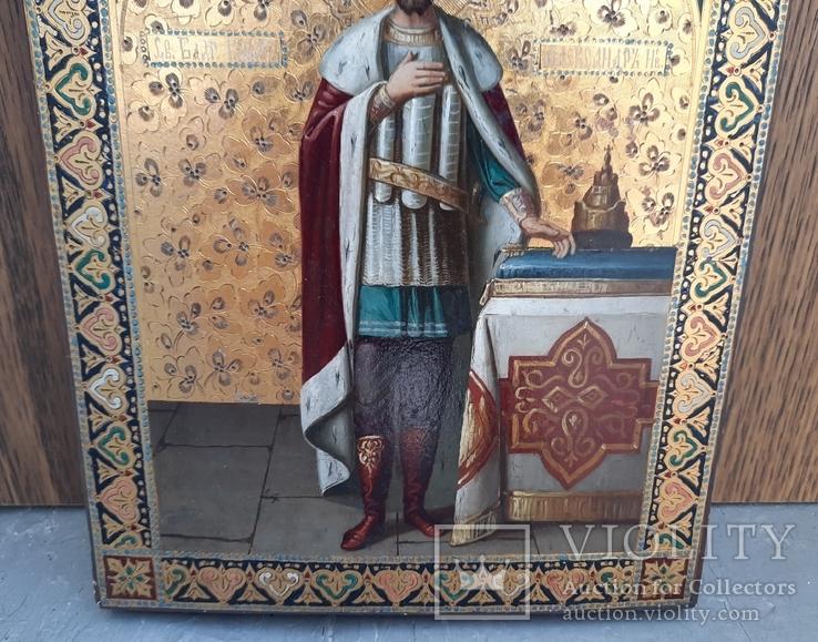 Икона Святой Князь Александр Невский., фото №8