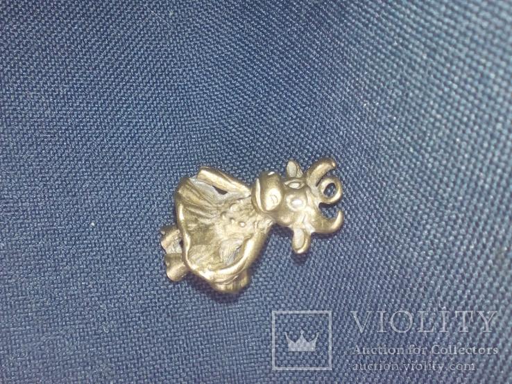 Коллекционная миниатюра Коровка - Красотка. Бронза. Брелок, фото №3