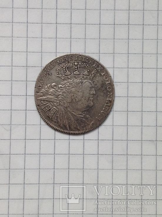 Орт Август 3. Польша 1755 г., фото №3