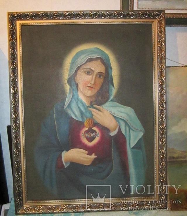 Пара народных икон. Святейшее сердце Иисуса Христа и Непорочное Сердце Девы Марии, фото №4