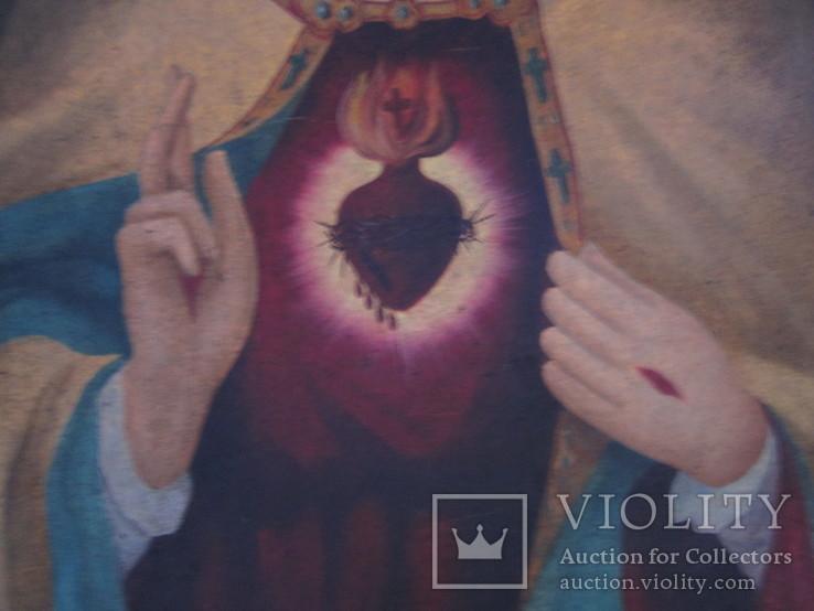 Пара народных икон. Святейшее сердце Иисуса Христа и Непорочное Сердце Девы Марии, фото №9