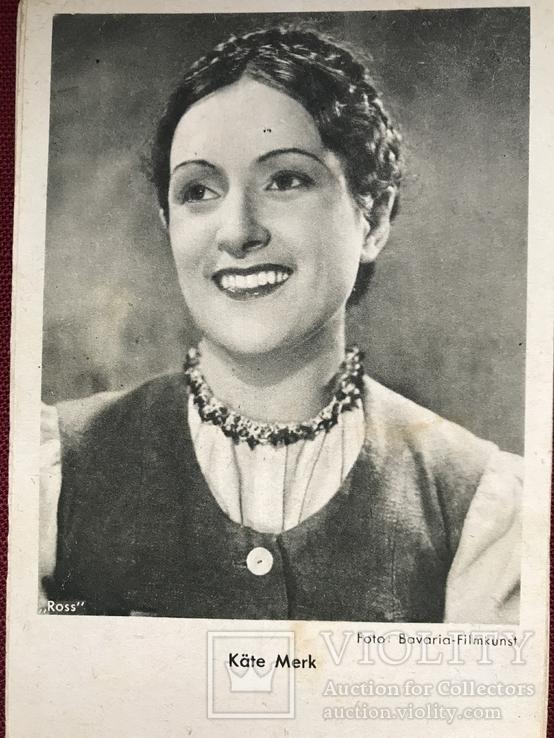 Набор старинных открыток с изображением германских артистов времен гитлеризма, фото №4