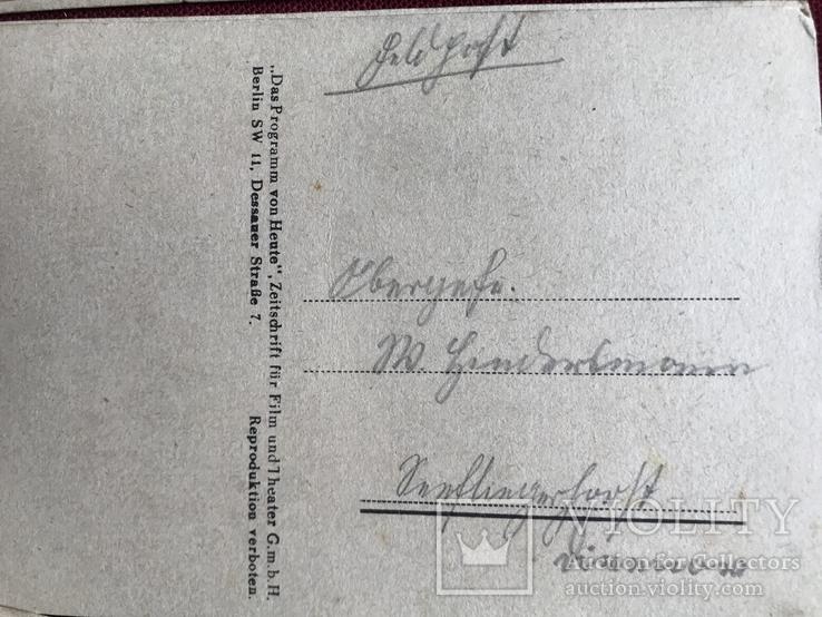 Набор старинных открыток с изображением германских артистов времен гитлеризма, фото №9