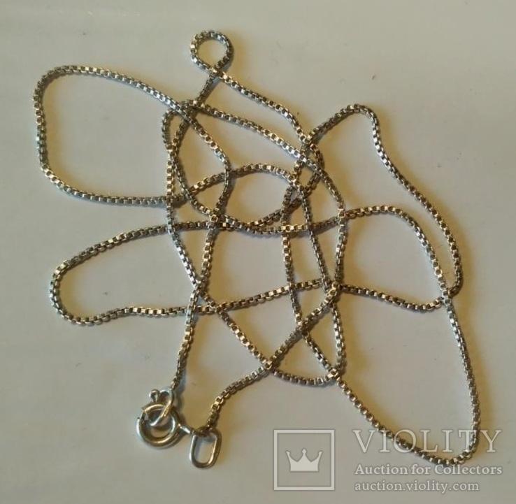 Цепочка ( 65 см.) серебро, фото №2